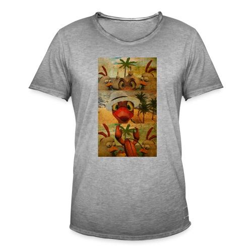 Ostrich Island Flock One - Miesten vintage t-paita