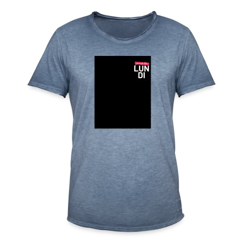 LUNDI - T-shirt vintage Homme