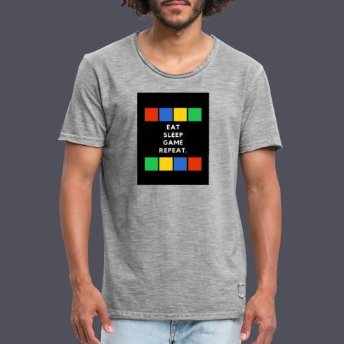 Eat, Sleep, Game, Repeat T-shirt - Men's Vintage T-Shirt