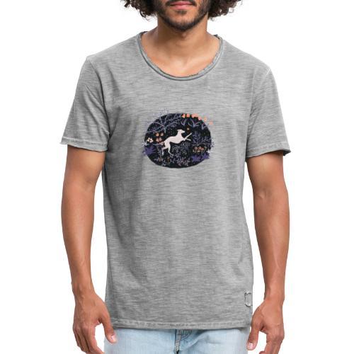 Windhund im Traumwald - Männer Vintage T-Shirt