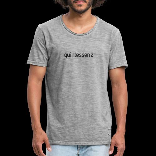 quintessenz black - Männer Vintage T-Shirt