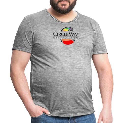 Circleway Welcome Home Logo - schwarz - Männer Vintage T-Shirt