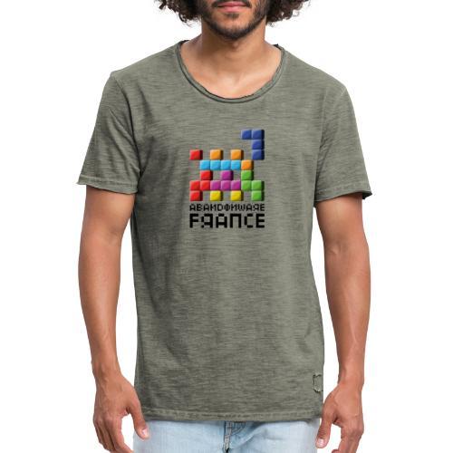 Logo Style Tétris - T-shirt vintage Homme