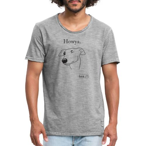 Howya Greyhound in black - Men's Vintage T-Shirt