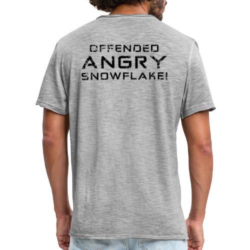 Black Negant logo + OFFENDED ANGRY SNOWFLAKE! - Herre vintage T-shirt