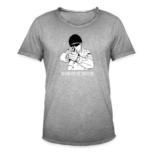 schön sie zu treffen w - Männer Vintage T-Shirt