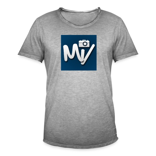 Maxvlogs T-shirt - Mannen Vintage T-shirt