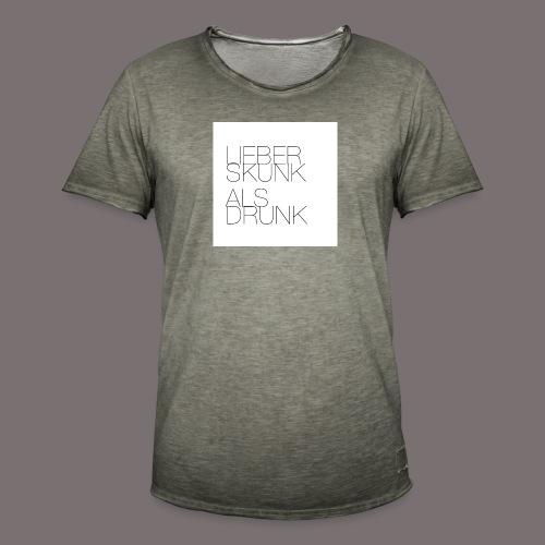 Lieber Skunk als Drunk - Männer Vintage T-Shirt