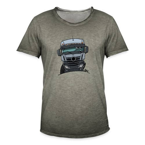 0807 M Truck grijs - Mannen Vintage T-shirt