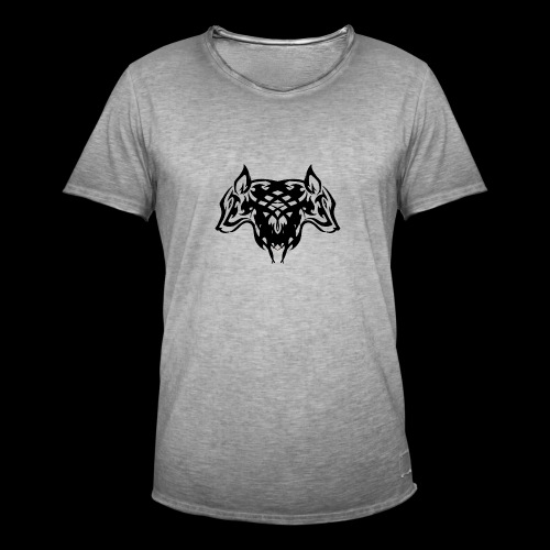 Wolf - Vintage-T-skjorte for menn