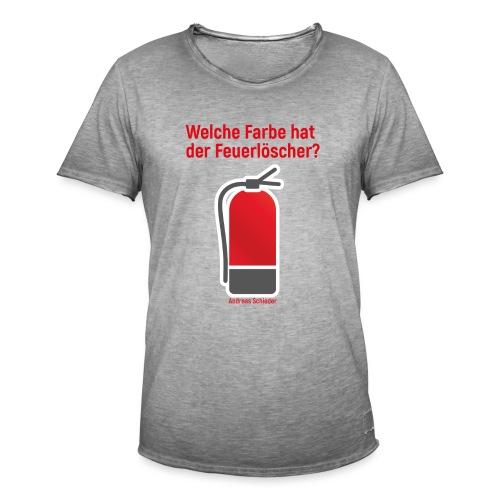 Feuerlöscher weiß - Männer Vintage T-Shirt