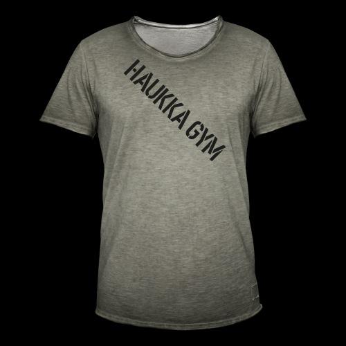 HAUKKA GYM text - Miesten vintage t-paita