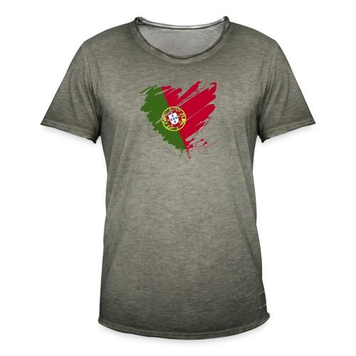 Herz Coração Portugal Portuguesa Fußball Futebol - Men's Vintage T-Shirt