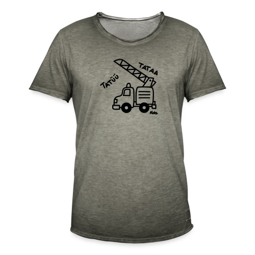 Feuerwehrwagen Tatü Tata - Männer Vintage T-Shirt