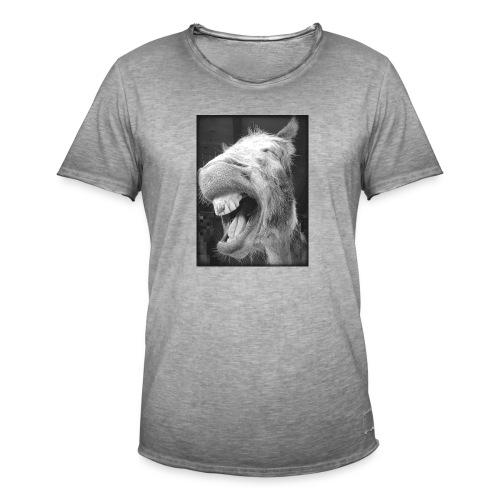 lachender Esel - Männer Vintage T-Shirt
