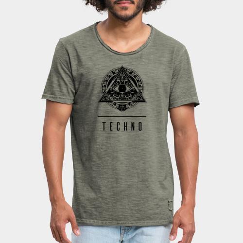 the EYE of TECHNO - Männer Vintage T-Shirt
