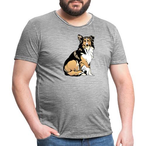 dog 48490 - Camiseta vintage hombre