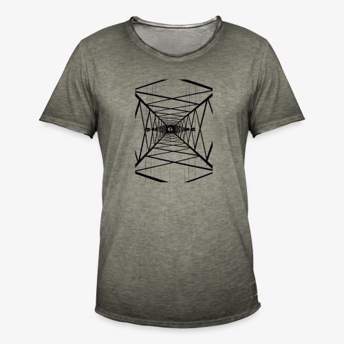 Hochmast V2 Schwarz - Männer Vintage T-Shirt