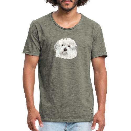 coton-de-tulear - Herre vintage T-shirt