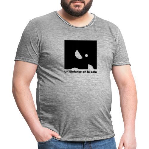 Logo Elefante Negro - Camiseta vintage hombre