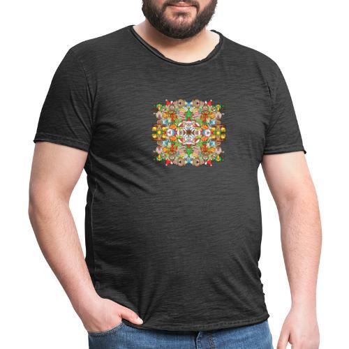 La foule de Noël s'amuse follement et à fond - Men's Vintage T-Shirt