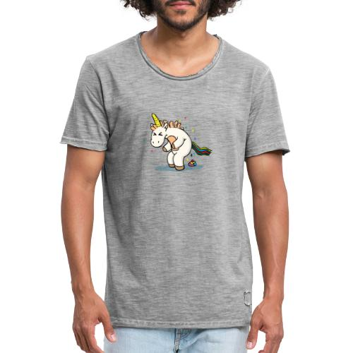 Mrs Poopy pooping - T-shirt vintage Homme