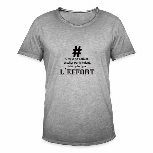 effort - T-shirt vintage Homme