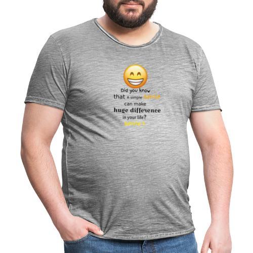 SMILE - Maglietta vintage da uomo