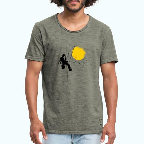 Minimal moon drawing - Men's Vintage T-Shirt