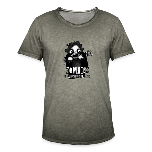 zombies - the only meat eaters i truly respect sv - Vintage-T-shirt herr