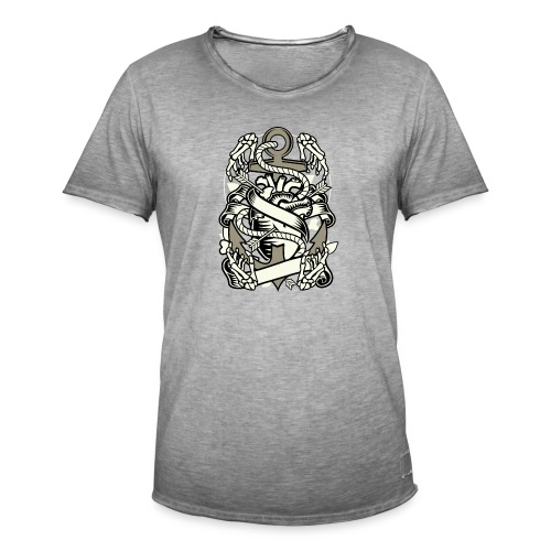 Heart and anchor - Mannen Vintage T-shirt