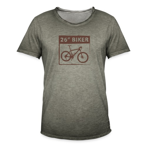 26 Biker - 1 Color - Männer Vintage T-Shirt