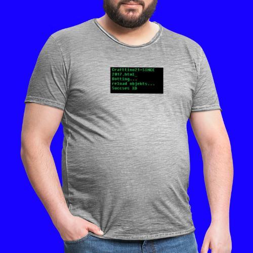 Crafttino21 Booting dising - Männer Vintage T-Shirt