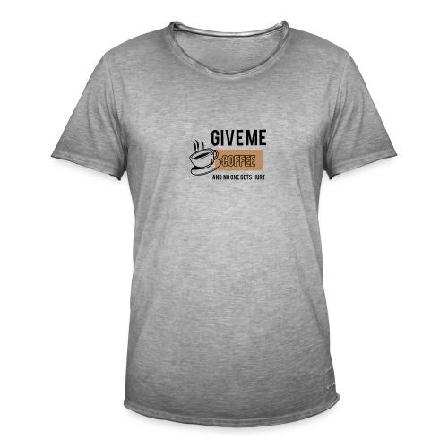 Coffee 2 - Männer Vintage T-Shirt