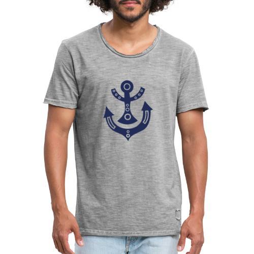 Anker Abstrakt - Männer Vintage T-Shirt