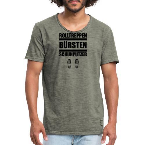 Rolltreppenbürstenschuhputzer - Männer Vintage T-Shirt