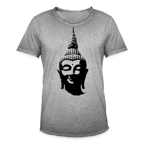 Boeddha hoofd - Mannen Vintage T-shirt