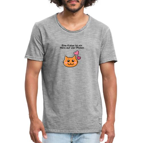Vier Pfoten - Männer Vintage T-Shirt
