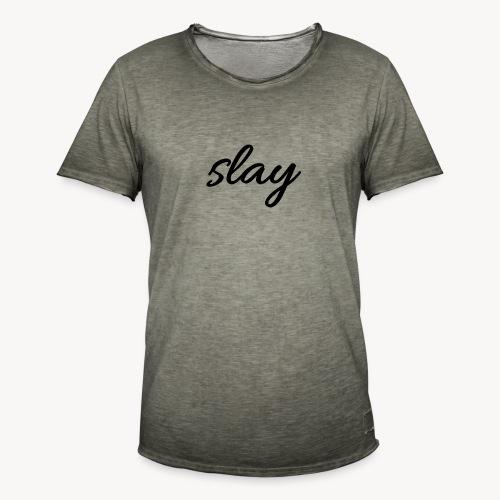 SLAY - Miesten vintage t-paita