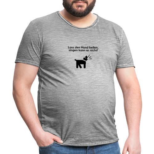 Bellender Hund - Männer Vintage T-Shirt