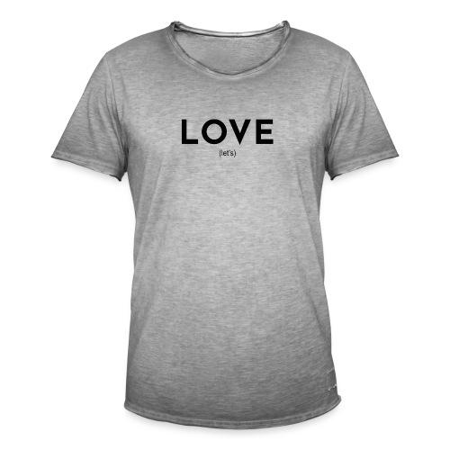 love (let's) - Männer Vintage T-Shirt