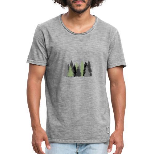 Waldbild - Männer Vintage T-Shirt