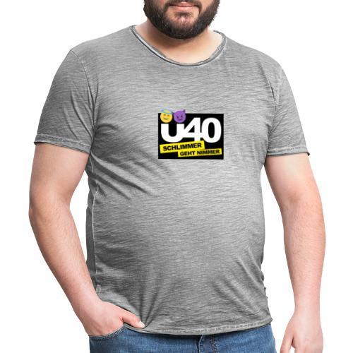 Ü 40 Schlimmer geht nimmer black - Männer Vintage T-Shirt