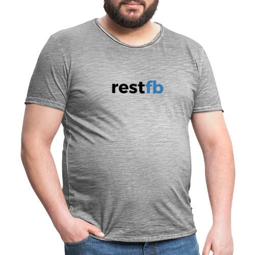 RestFB logo black - Men's Vintage T-Shirt