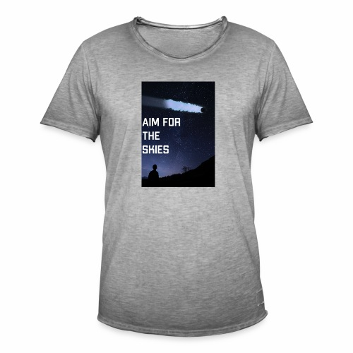 aim for the skies high resolution - Mannen Vintage T-shirt