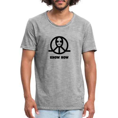 KnowHow Alien Peace Zeichen Symbol - Männer Vintage T-Shirt