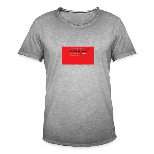 fuera rasismo - Camiseta vintage hombre