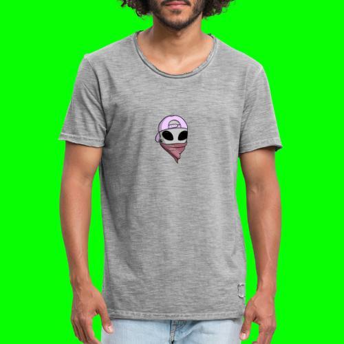 gangsta alien logo - Maglietta vintage da uomo