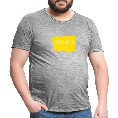 Sinti Lives Matter - Männer Vintage T-Shirt