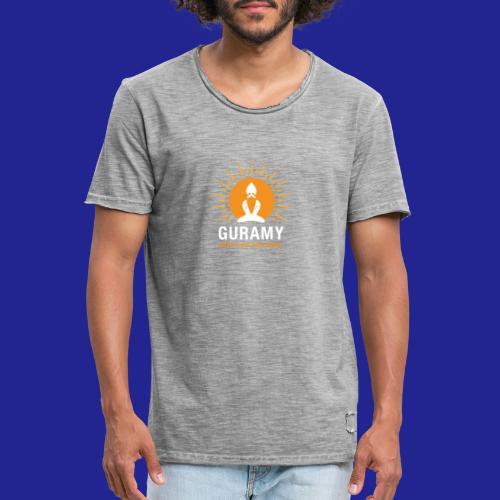 final white con scritta CORRETTO - Men's Vintage T-Shirt